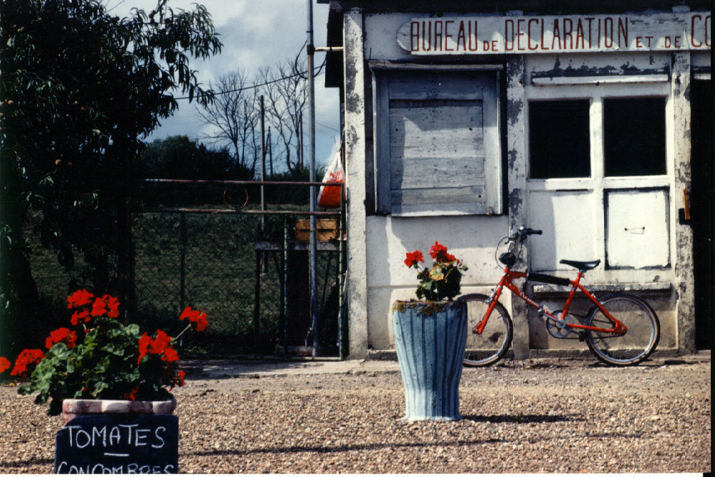 Tomates with bicycle